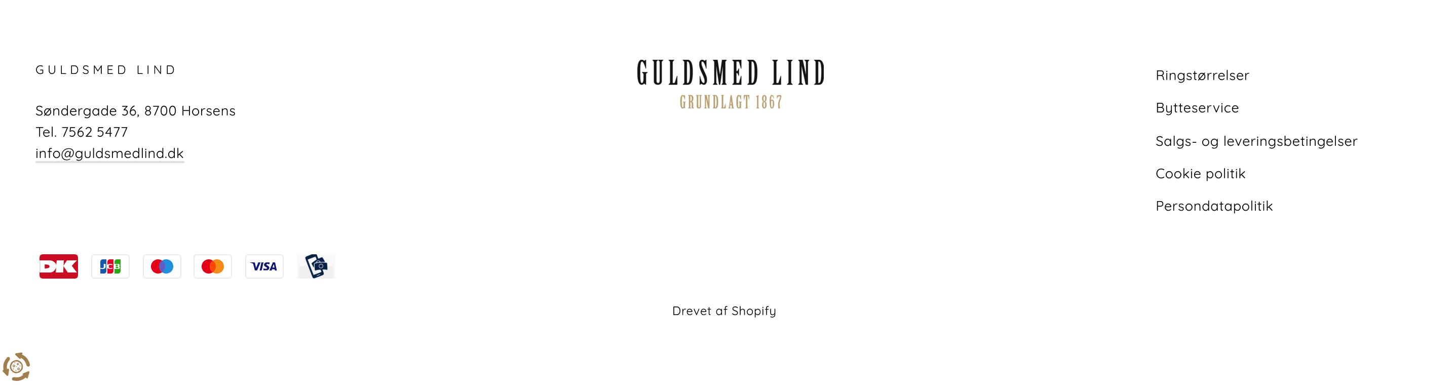 Billede af footeren hos Guldsmed Lind